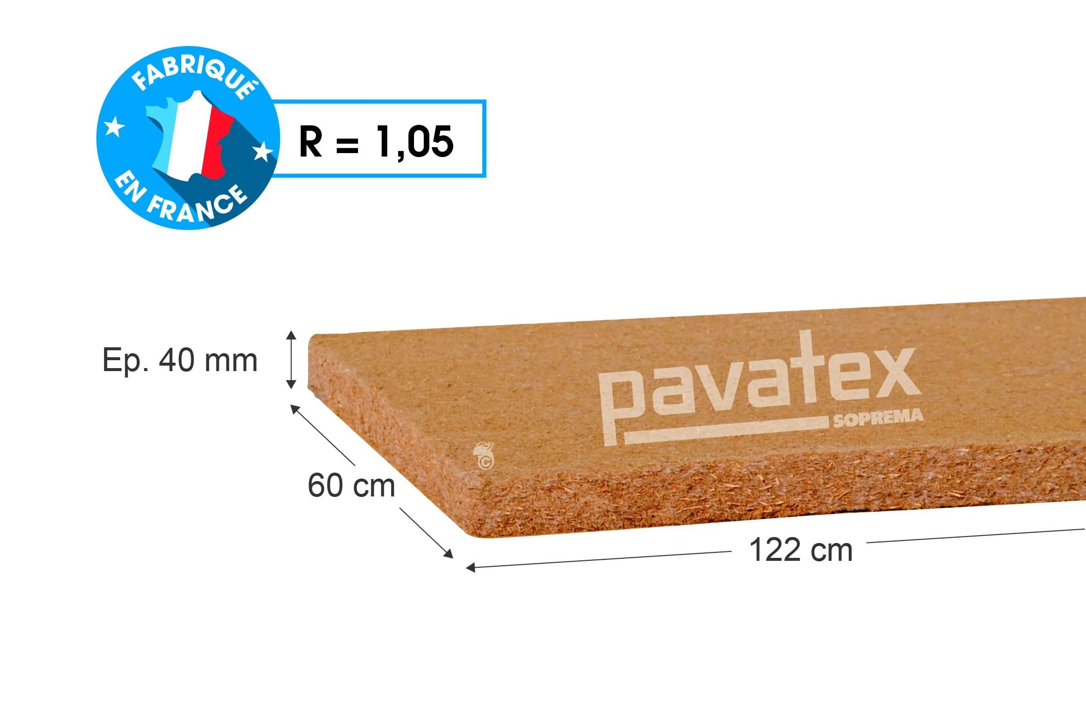 10 Panneaux Fibre De Bois Pavatex L 0 6 X L 1 22 M X Ep 40 Mm Leroy Merlin