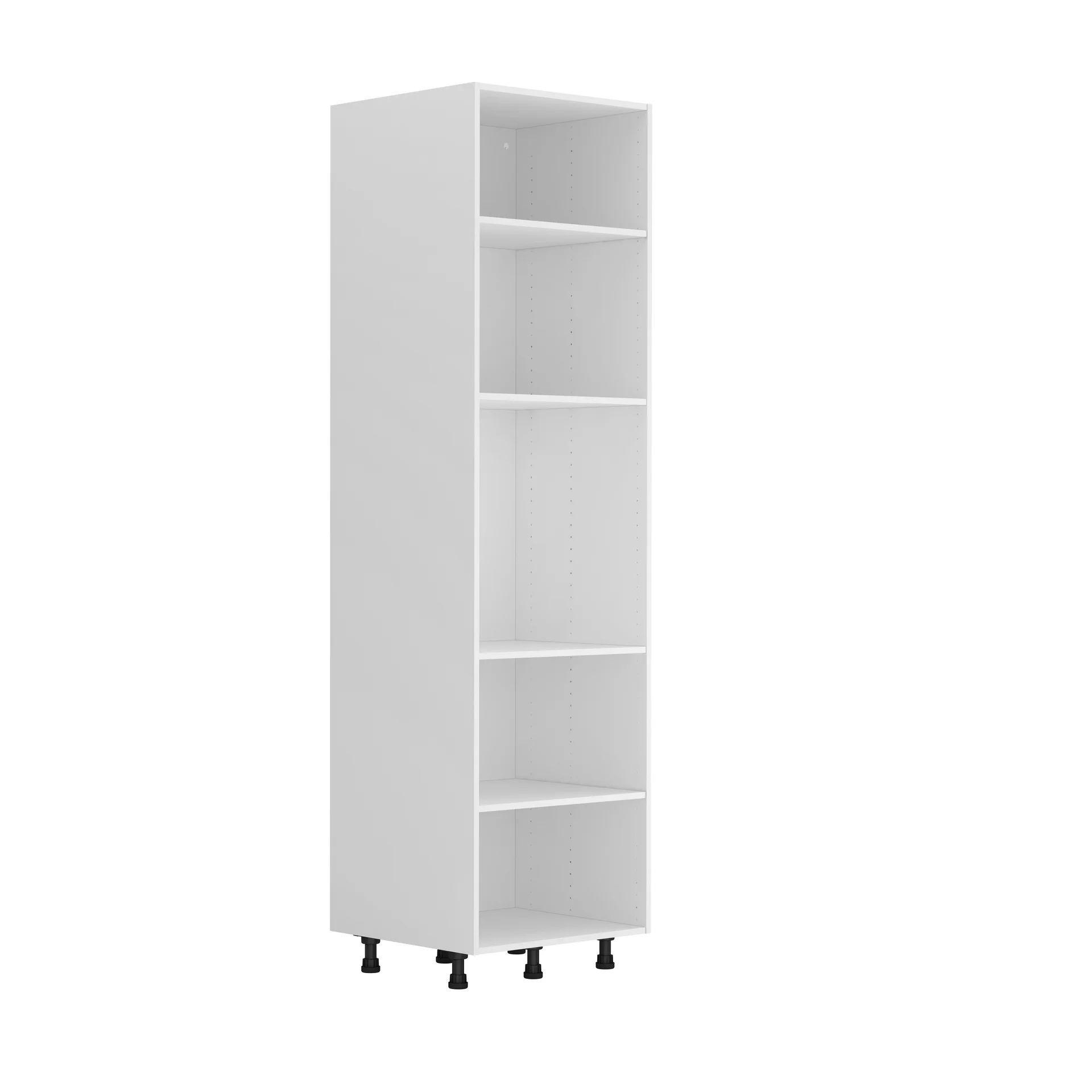 caisson de cuisine colonne delinia id blanc h 214 4 x l 60 x p 58 cm