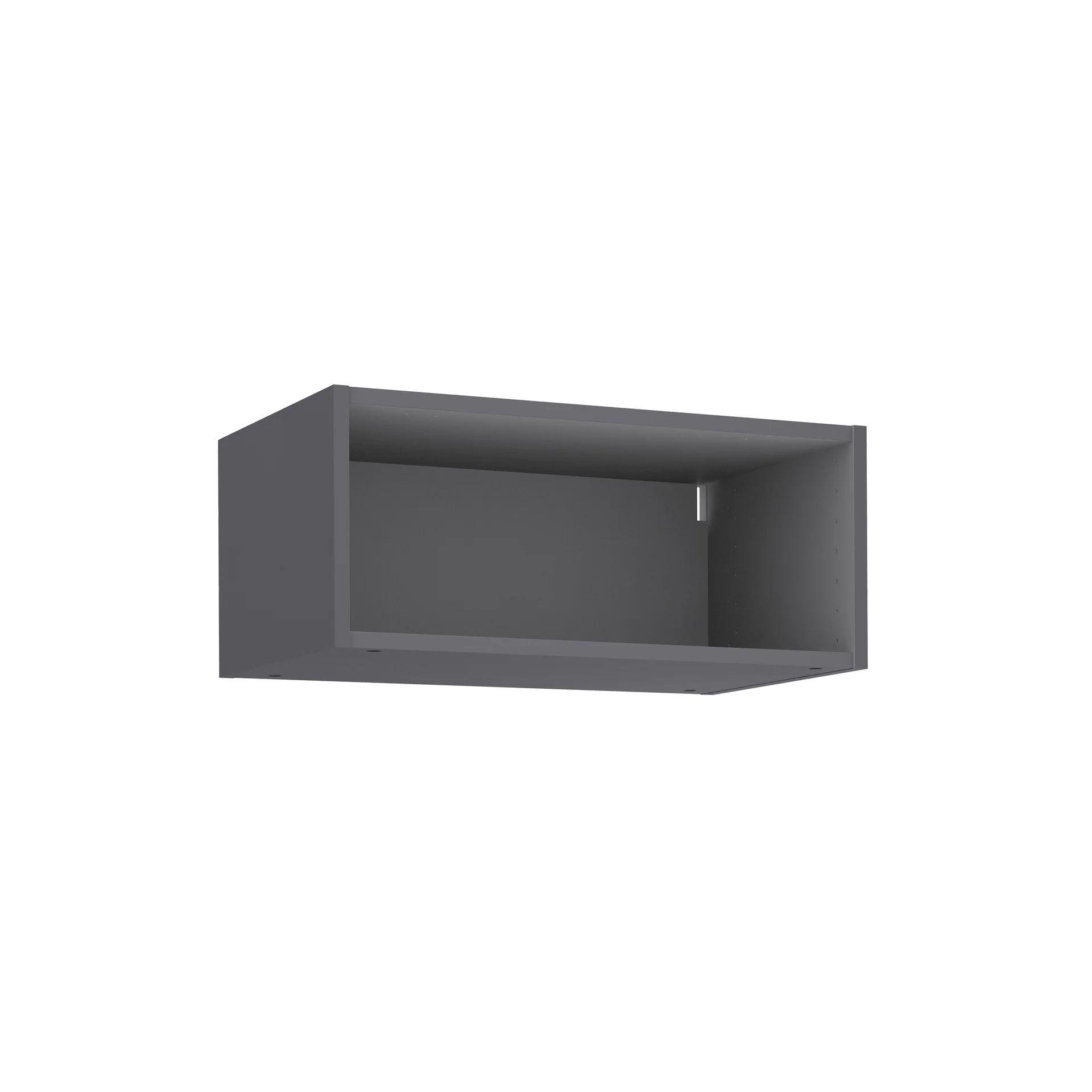 caisson de cuisine haut delinia id gris h 25 6 x l 60 x p 35 cm