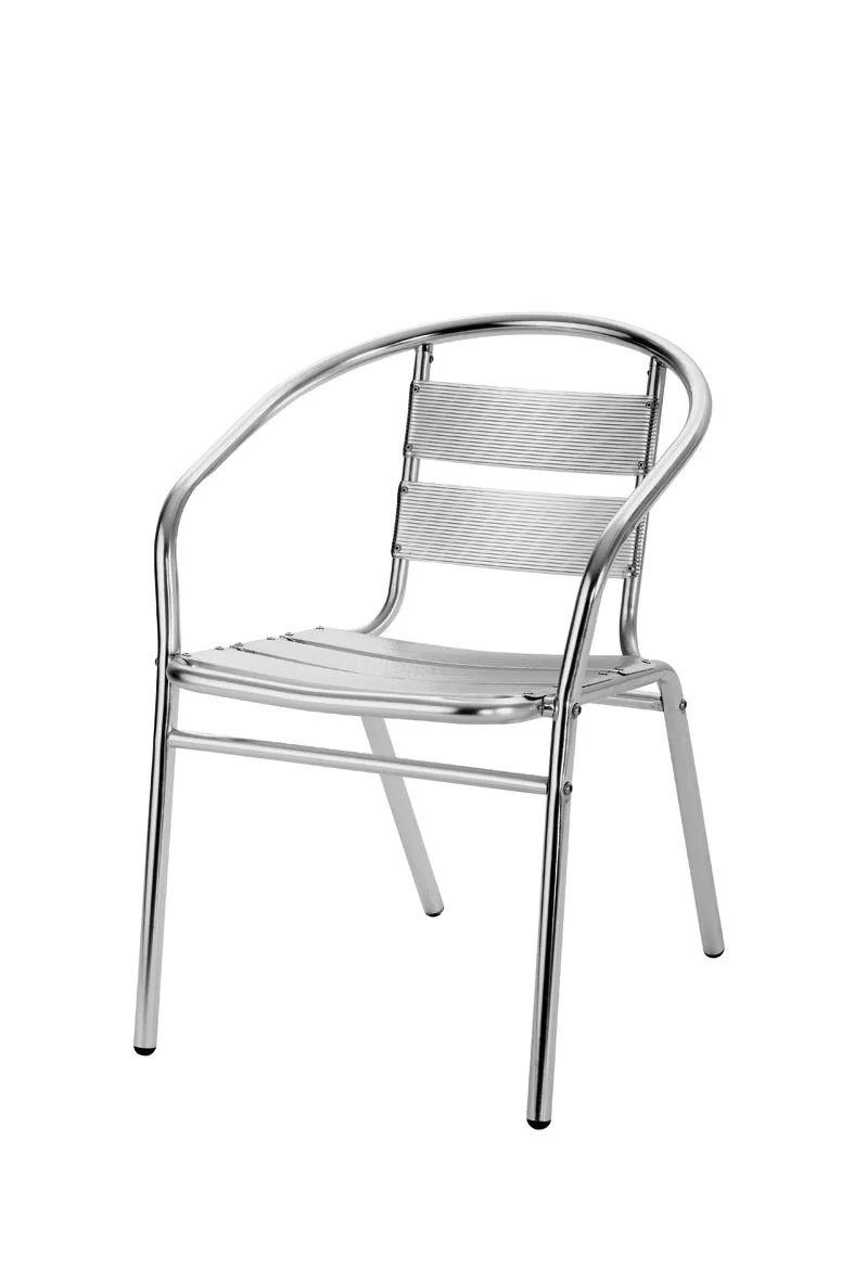fauteuil de jardin en aluminium coffee time gris