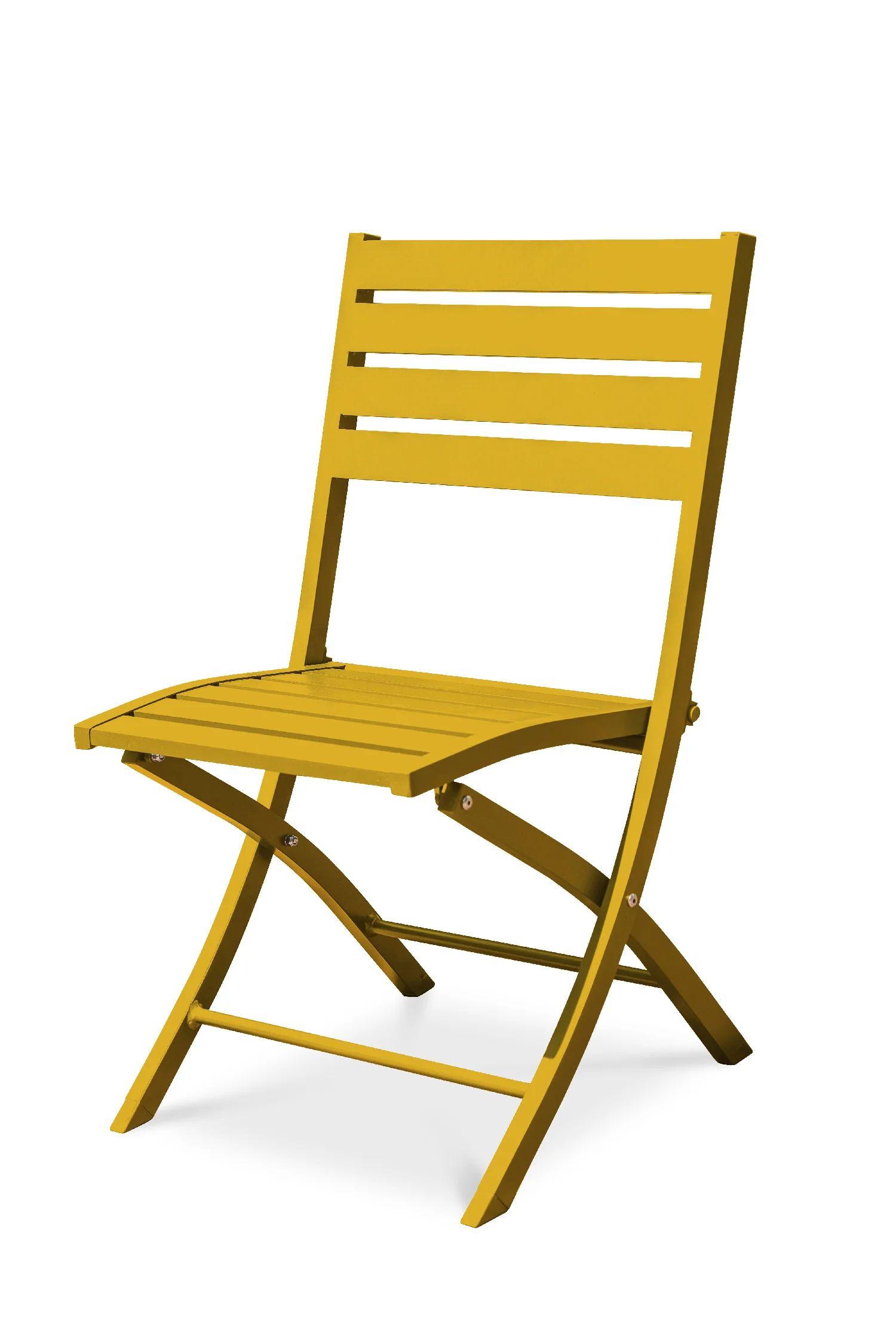 chaise de jardin en aluminium marius moutarde