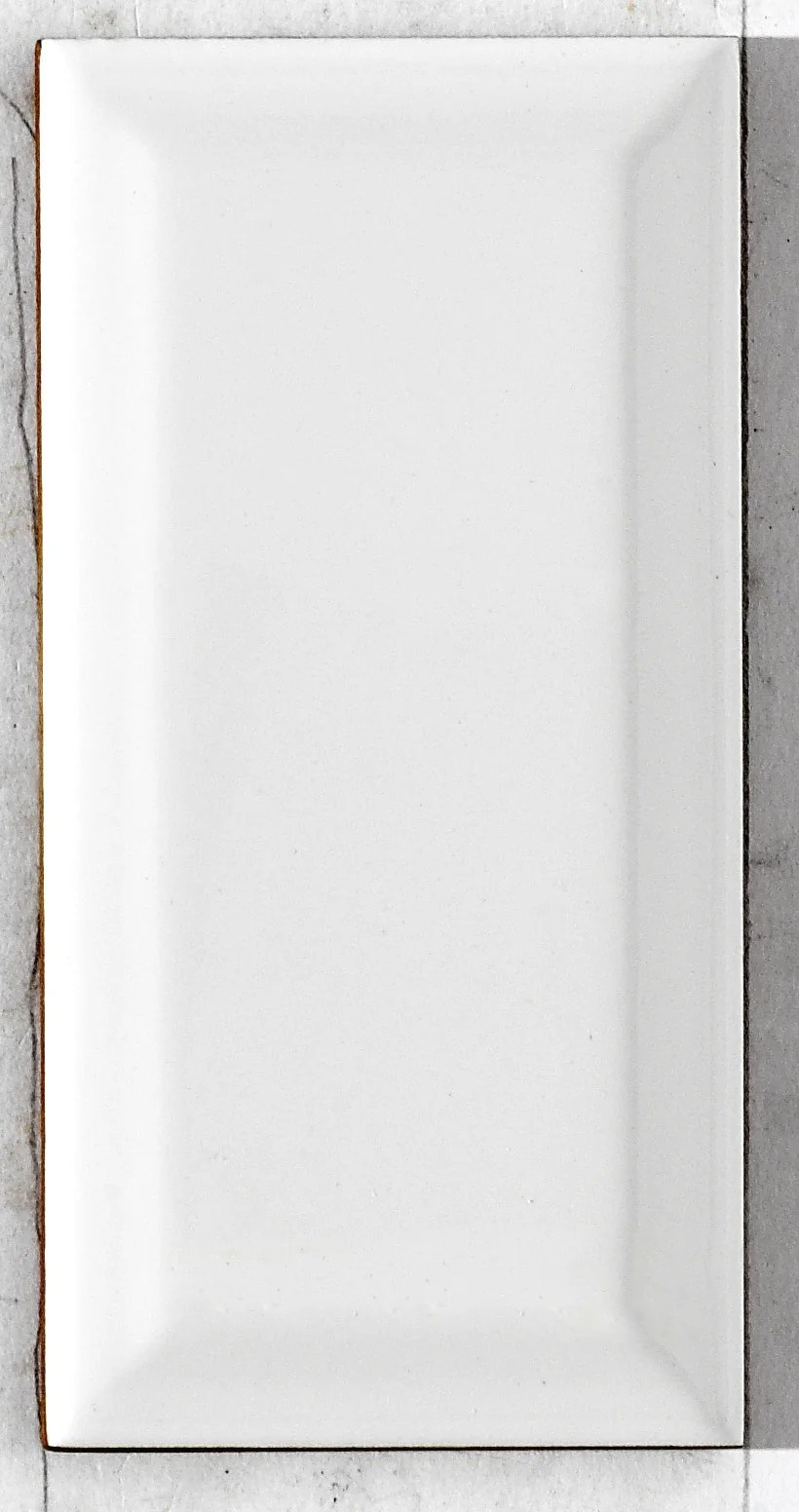 carrelage mur forte uni blanc brillante l 7 5 x l 15 cm metro artens