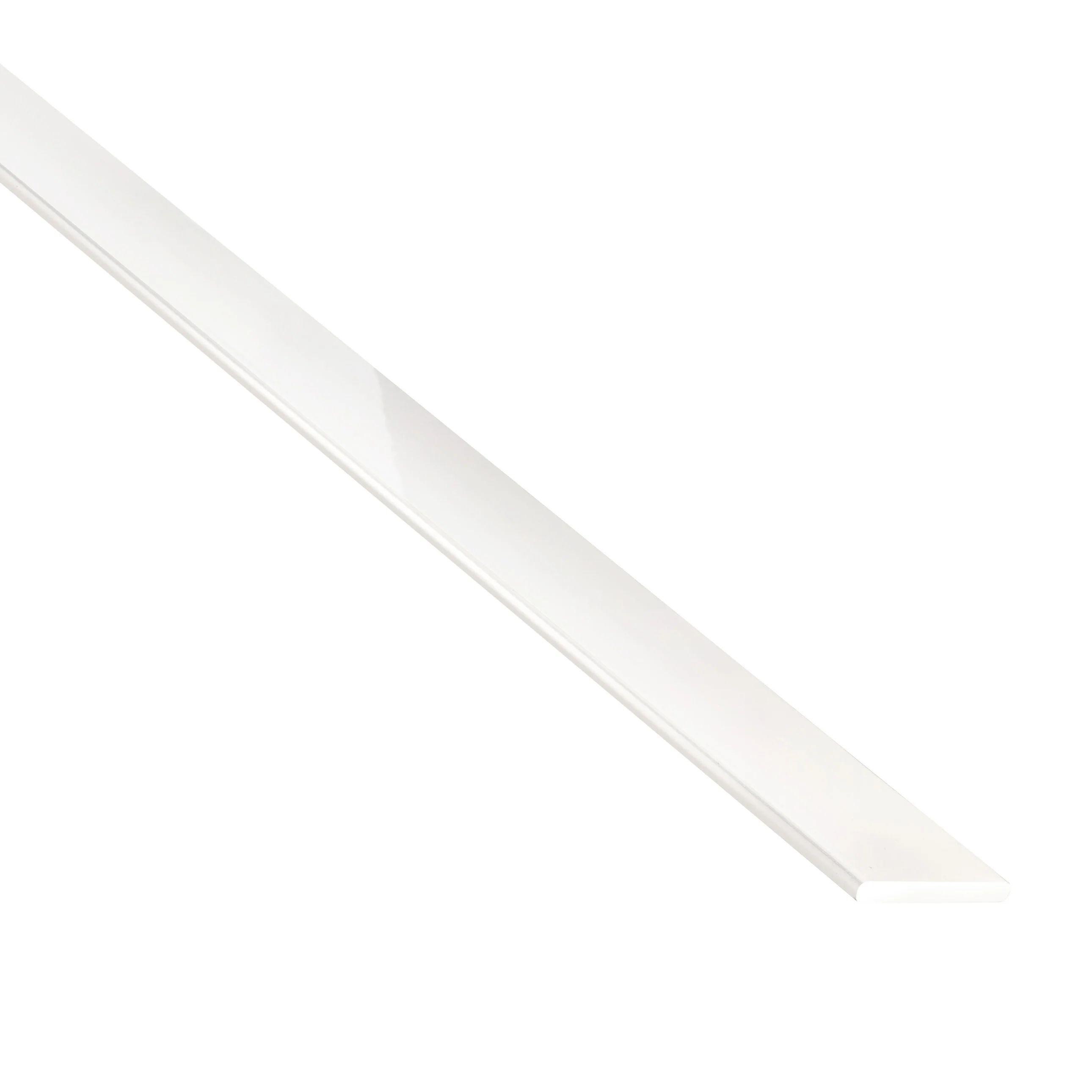 plat aluminium laquee blanc l 1 m x l 3 cm x h 0 2 cm