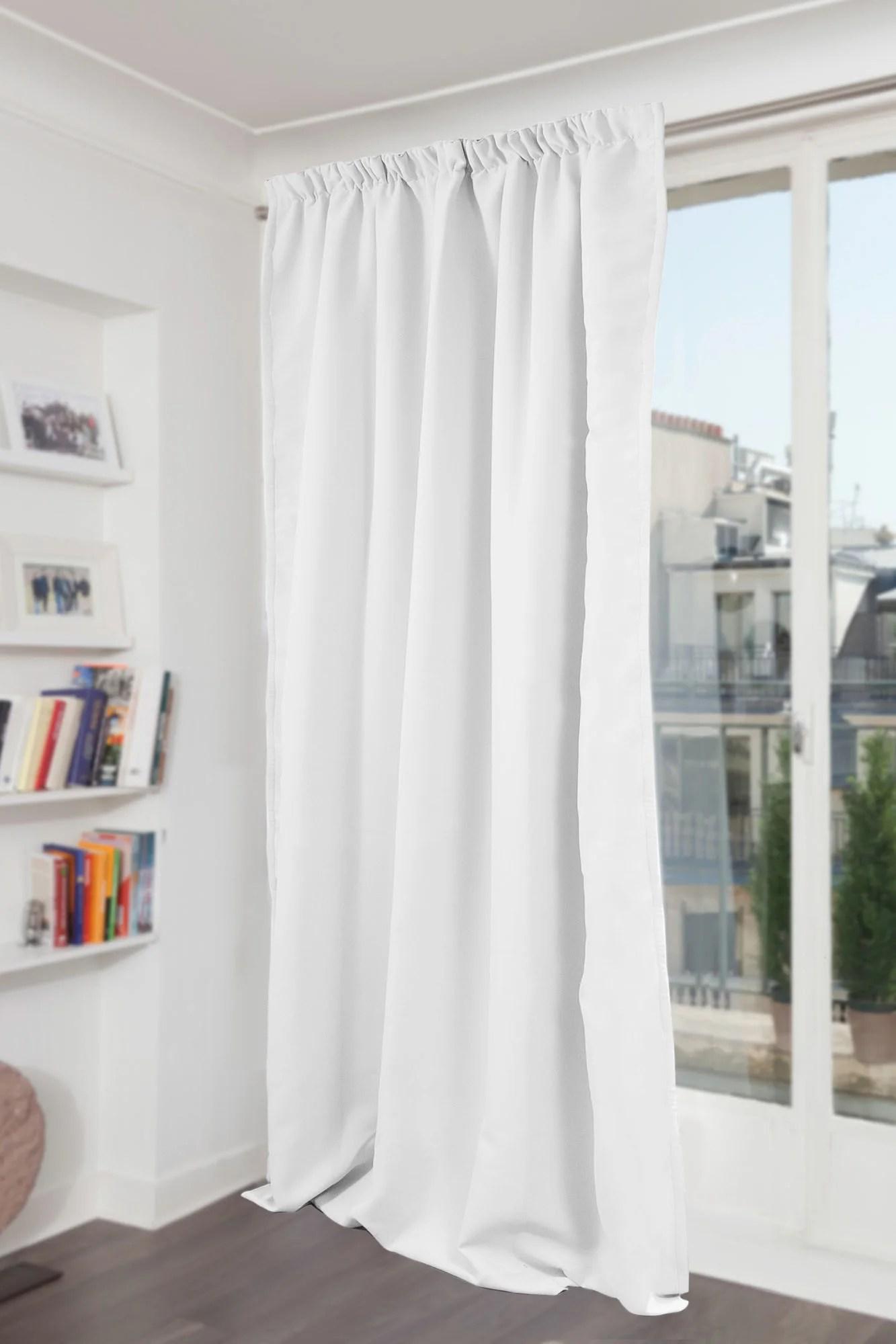 rideau occultant thermique et phonique blanc l 145 x h 260 cm moondream