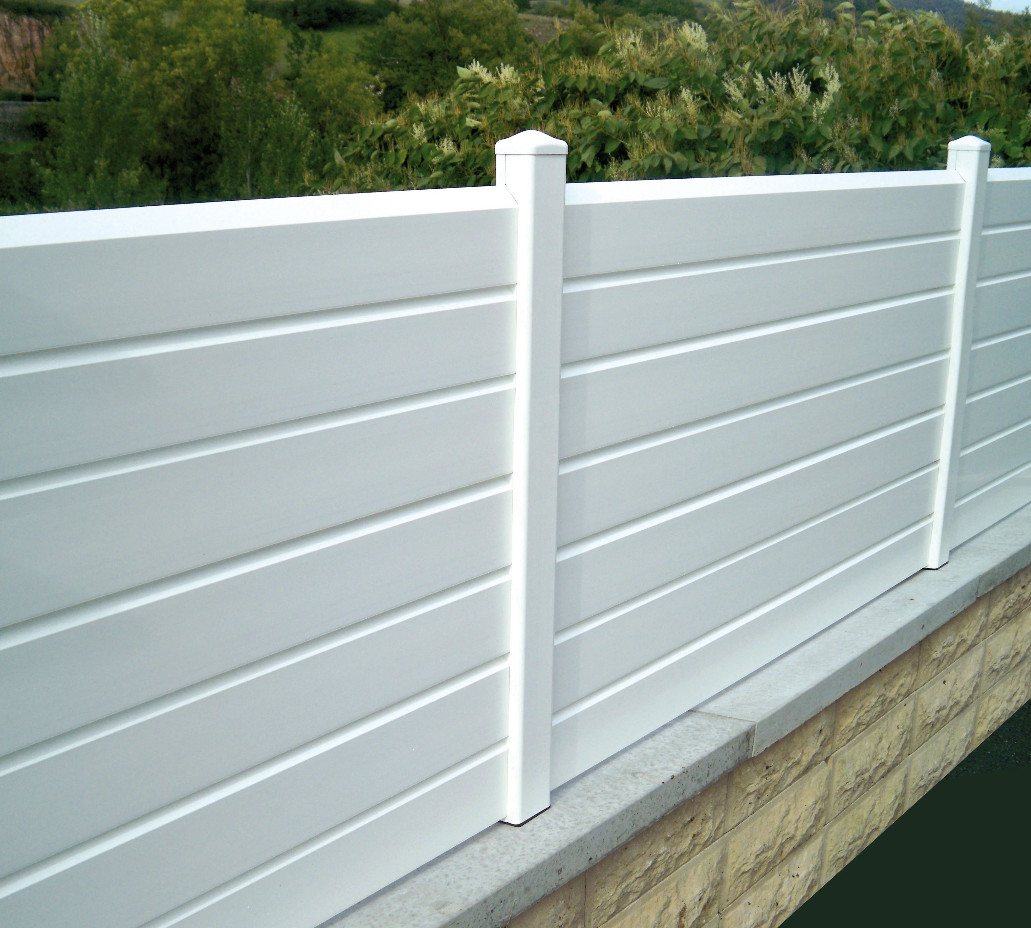 Cloture A Composer Pvc Littoral Persienne Blanc Leroy Merlin