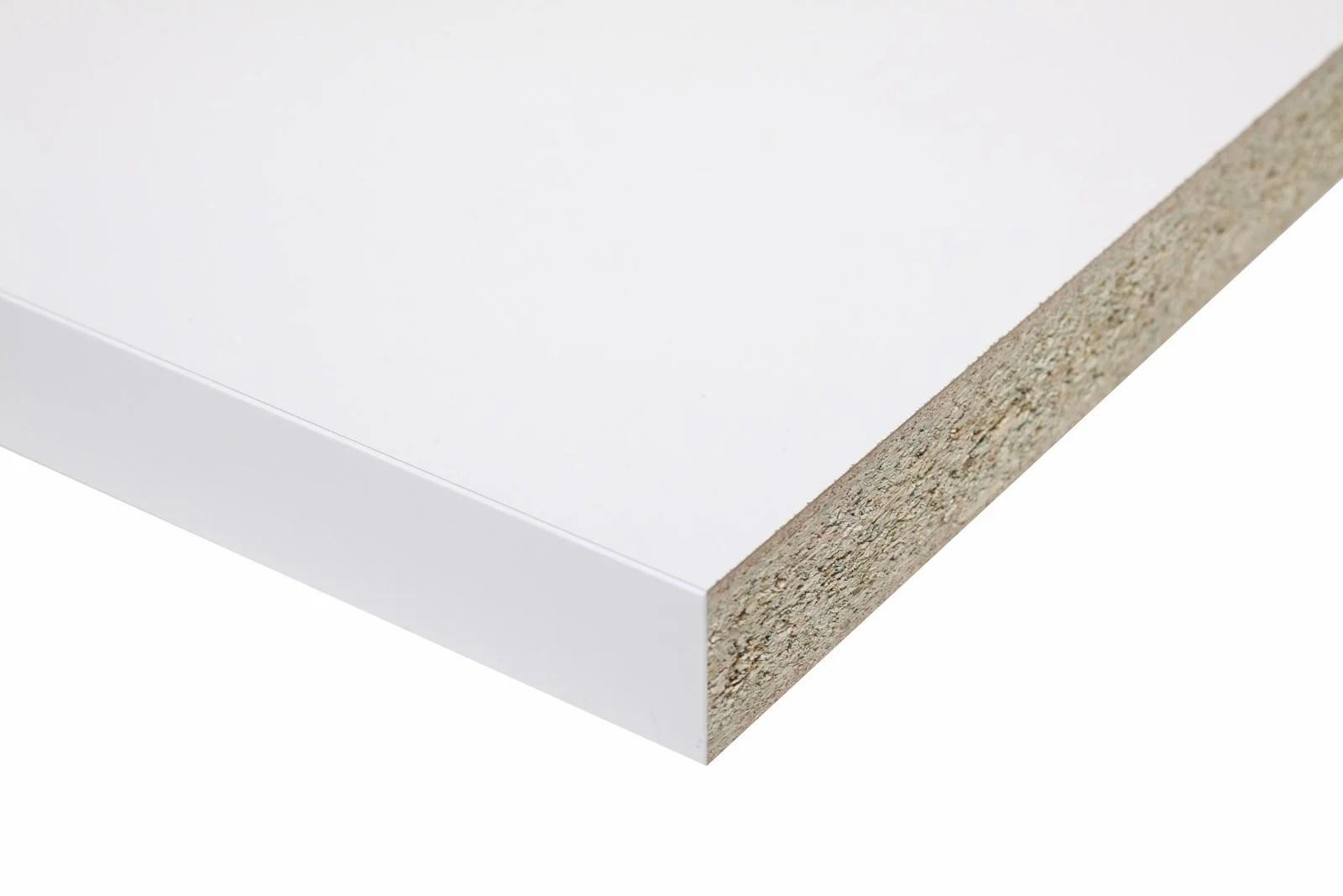 plan de travail stratifie blanc brillant l 315 x p 65 cm ep 38 mm