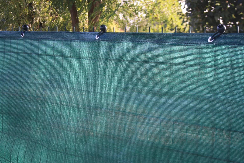 brise vue vert bande et oeillet h 1 x l 2 5 m 95 occultant