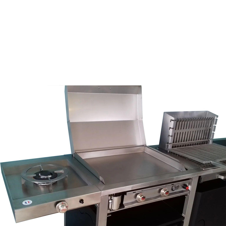 Barbecue Et Plancha Au Gaz Plancha Tonio Combicui3 Noir Inox Leroy Merlin