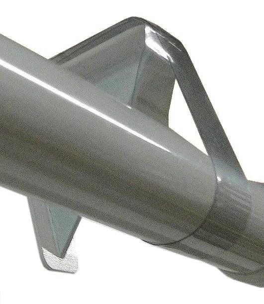 lot de 2 supports sans percage tringle a rideau caisson volet 20 28 mm gris mat