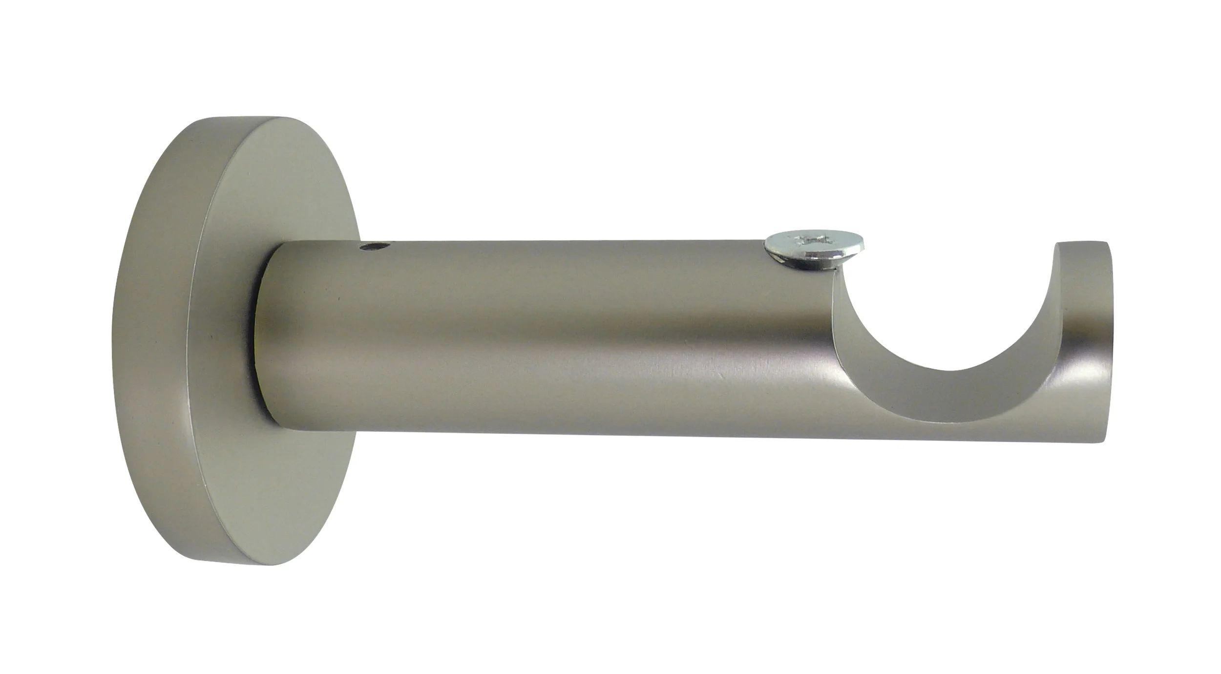 lot de 2 supports tringle a rideau design 20 mm nickel mat inspire