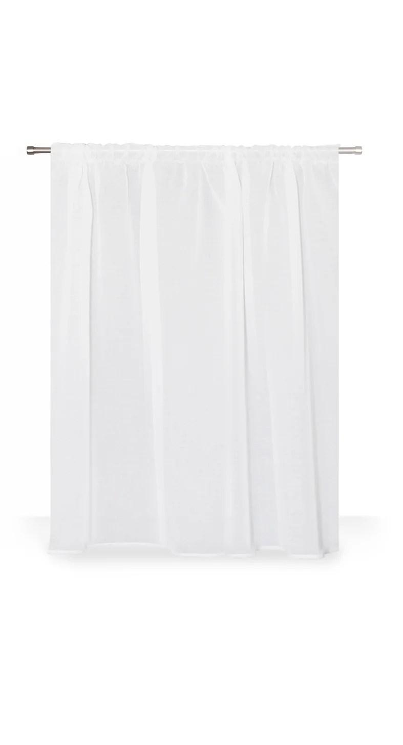 voilage transparent leo ruflette blanc l 140 x h 160 cm