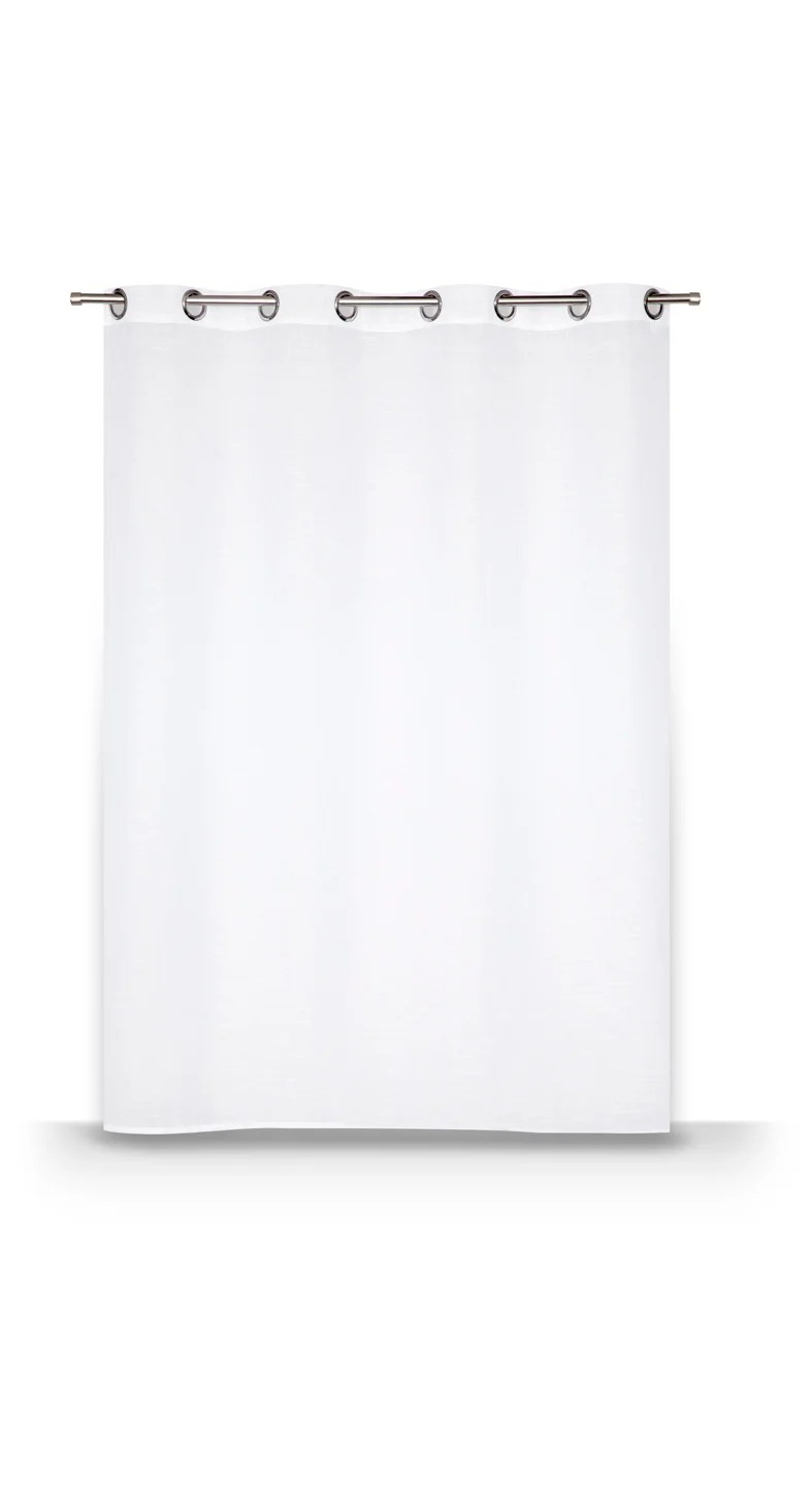 voilage transparent leo blanc l 140 x h 160 cm
