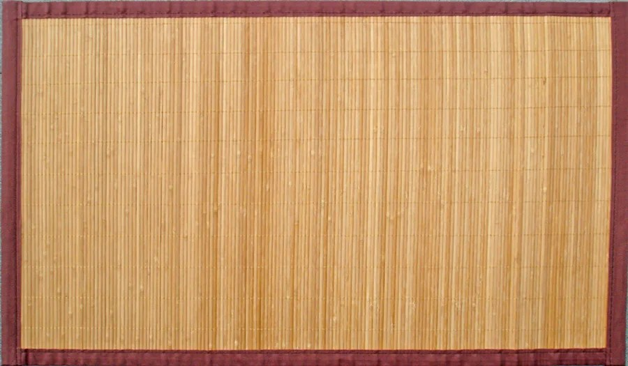 tapis naturel rectangulaire l 140 x l 200 cm bambou