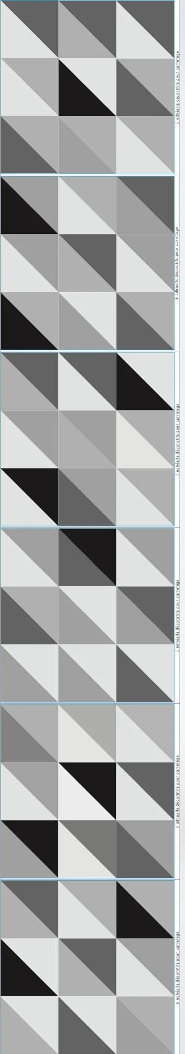 Lot De 6 Stickers Adhesifs Carrelage Mural Scandinave Noir Blanc 15 Cm X 15 Cm Leroy Merlin
