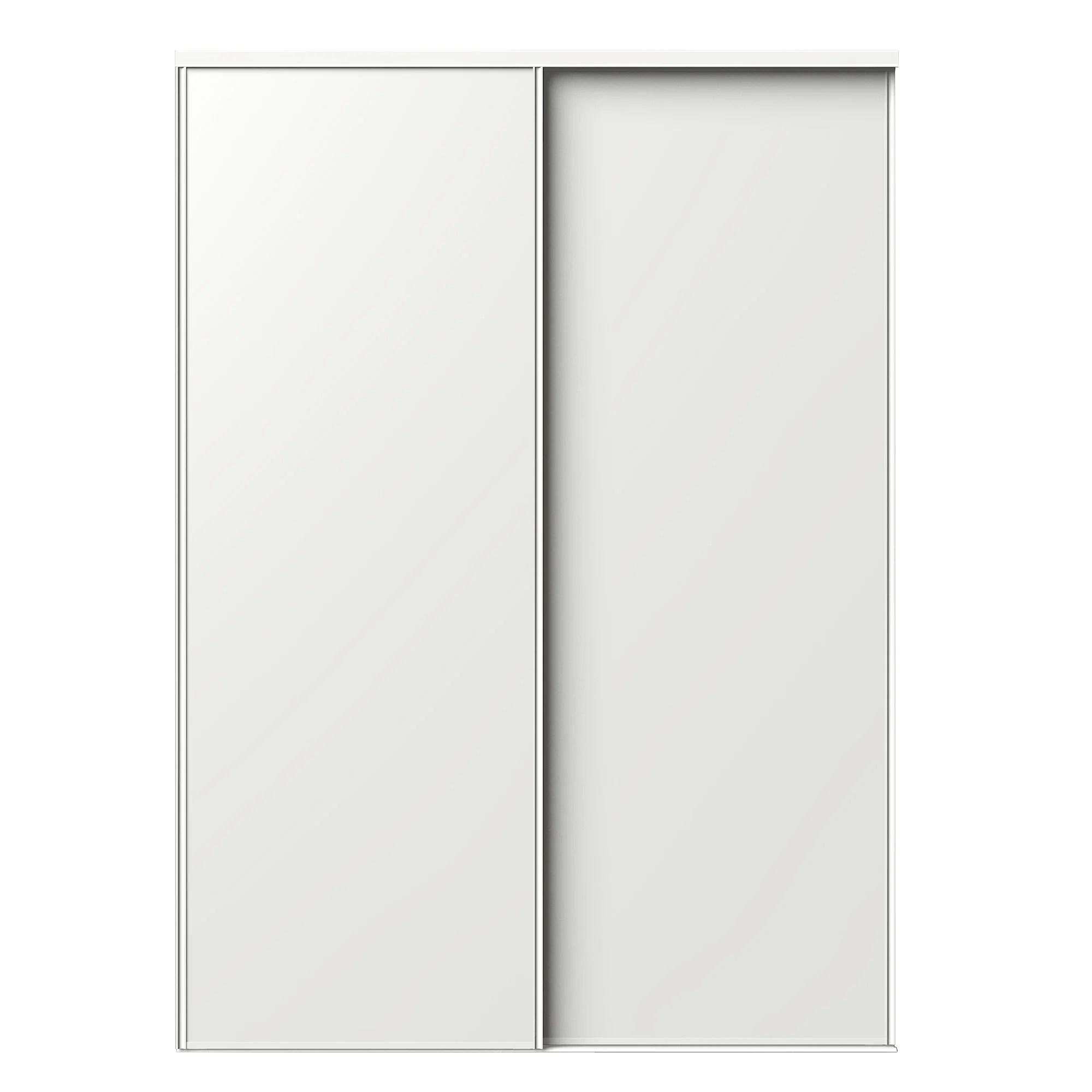 portes de placard coulissantes 2 portes blanc l205xh250cm