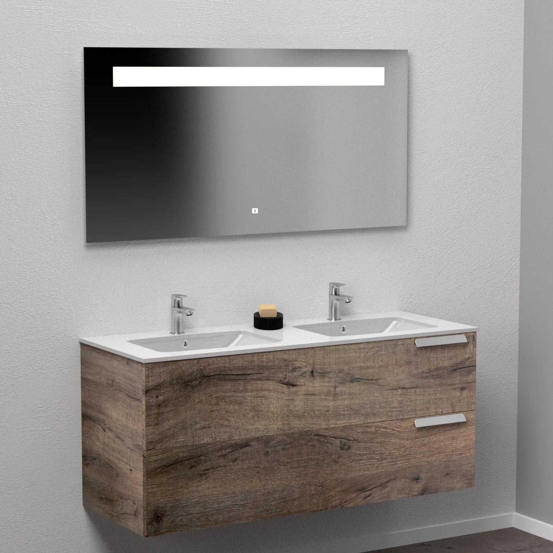 meuble salle de bains 3 pieces l 120 x h 56 7 x p 45 5 cm pitaya infini