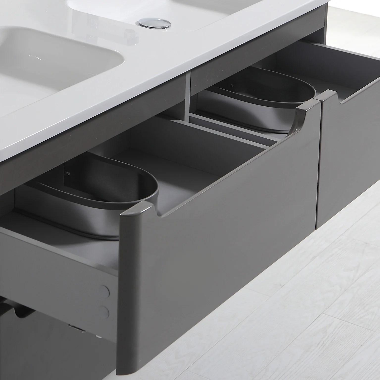meuble salle de bains 2 pieces toola l 120 x h 50 x p 47 6 cm ivoire toola