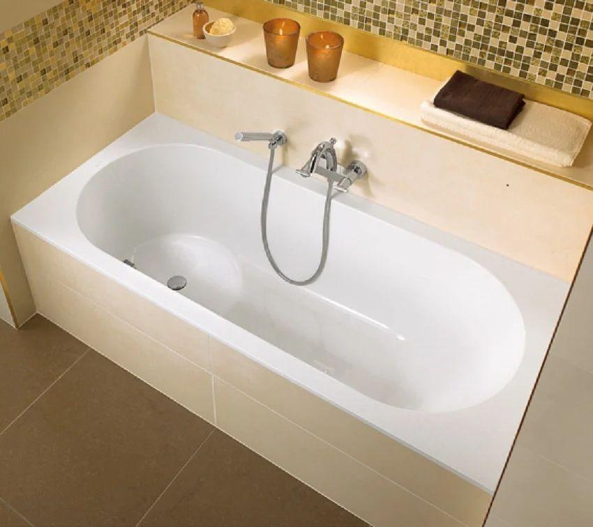 baignoire ilot rectangulaire l 170x l 75 cm blanc villeroy boch libra crystal