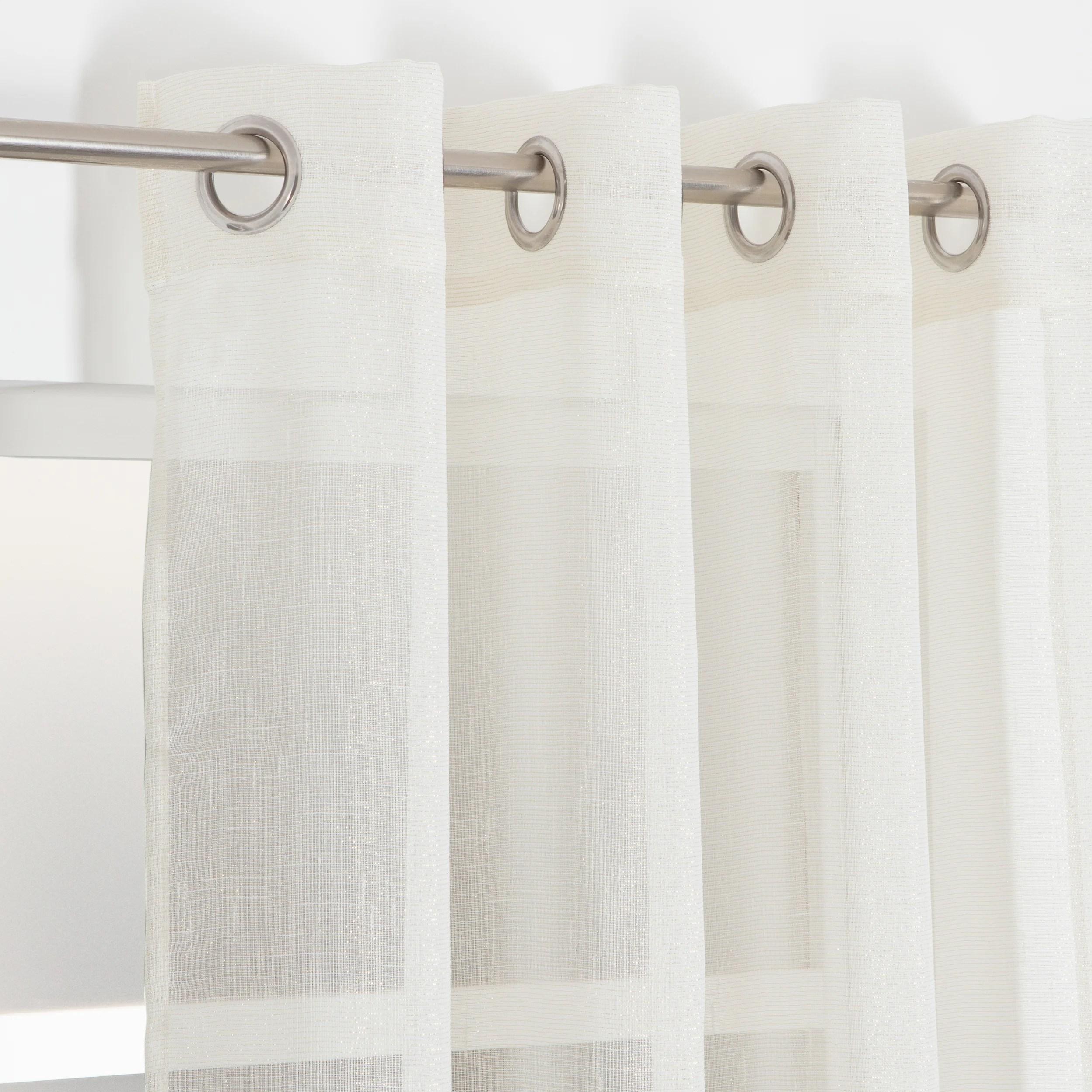voilage transparent briana beige dore l 135 x h 260 cm