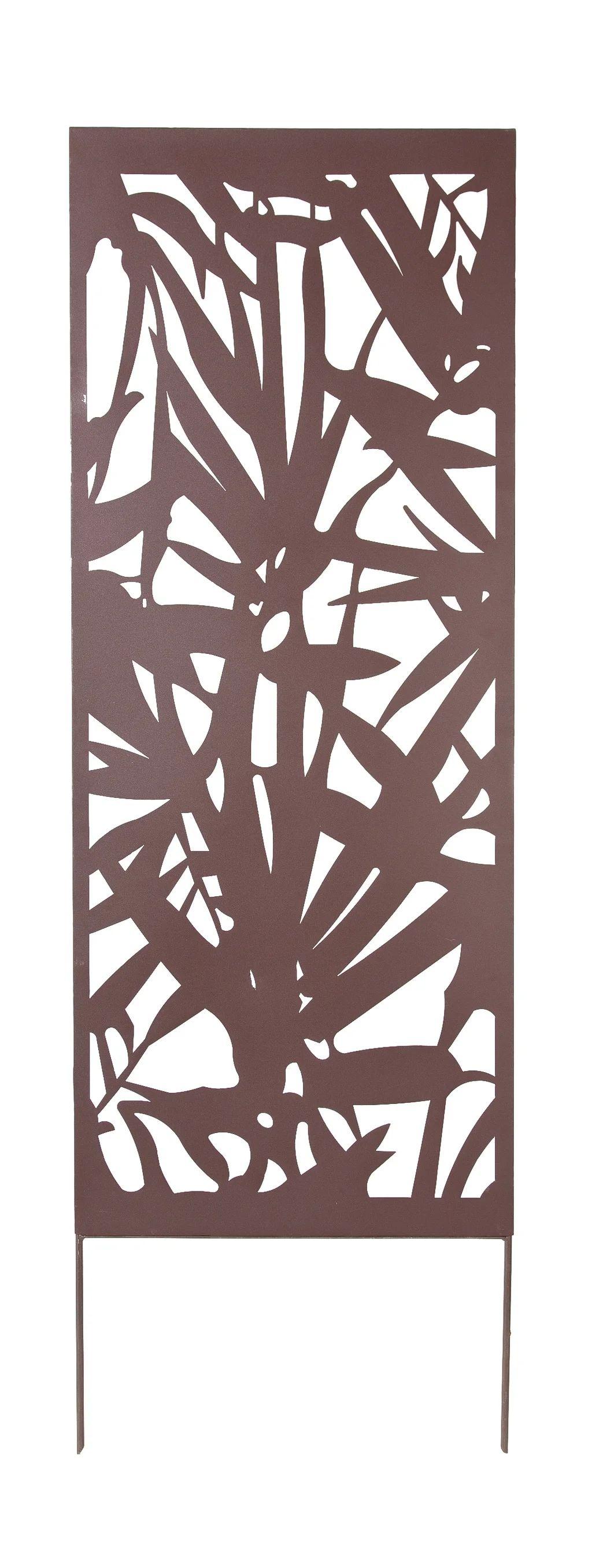 panneau metal decoratif palmier l 60 x h 150 cm