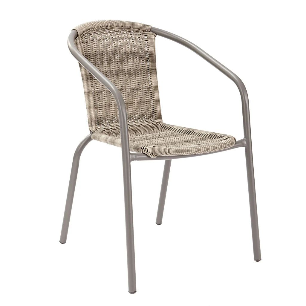 chaise de jardin en acier elia beige