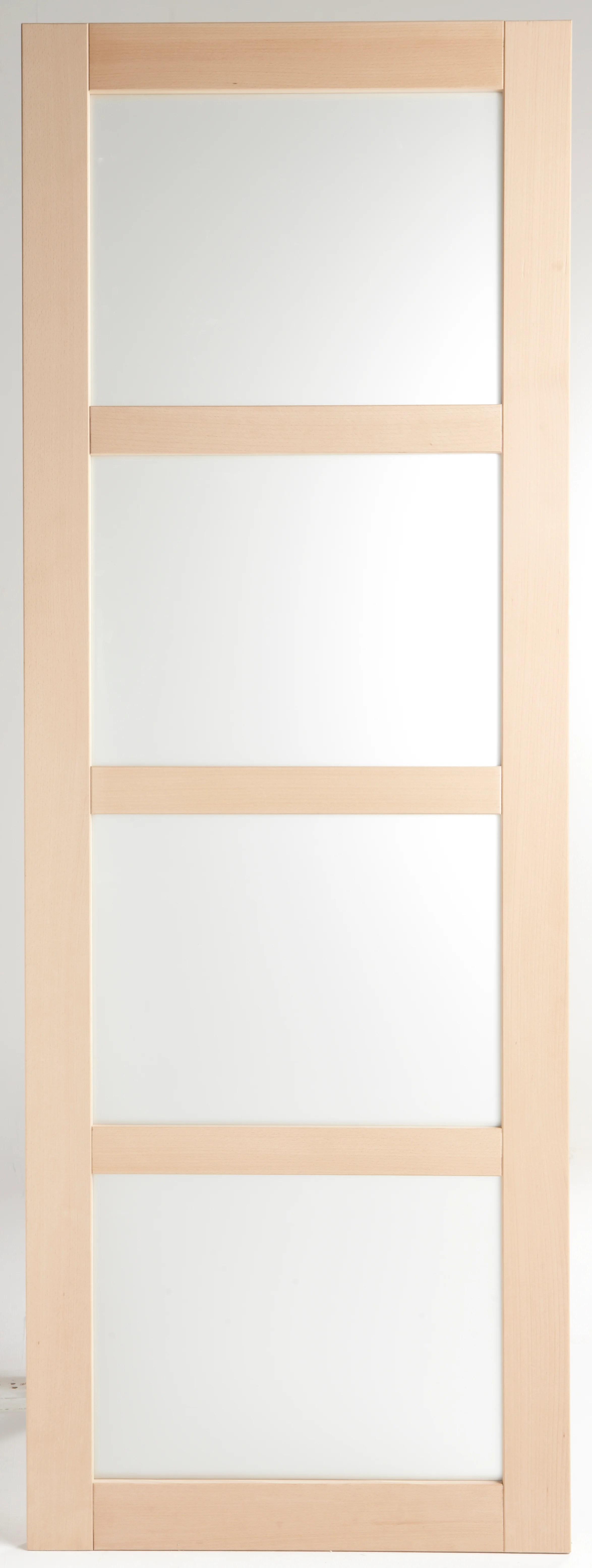 porte coulissante bois nova vitree h 204 x l 73 cm