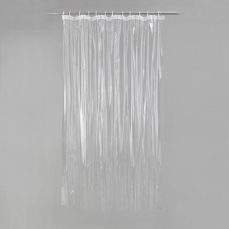 rideau de douche en plastique transparent l 180 0 x h 200 0 cm clear sensea