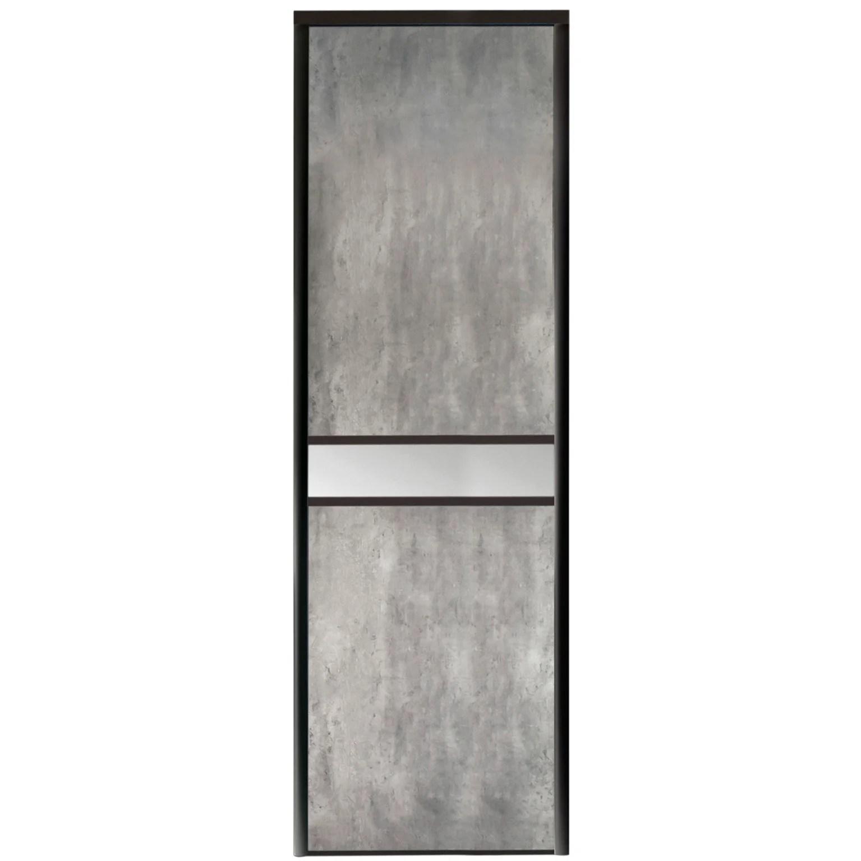 porte de placard coulissante sur mesure optimum adagio de 35 1 a 60 cm leroy merlin
