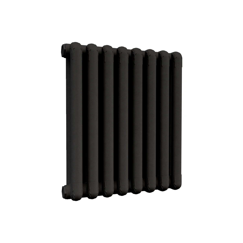 radiateur eau chaude horizontal nova florida mood noir 440w h 54 9 x l 40 cm