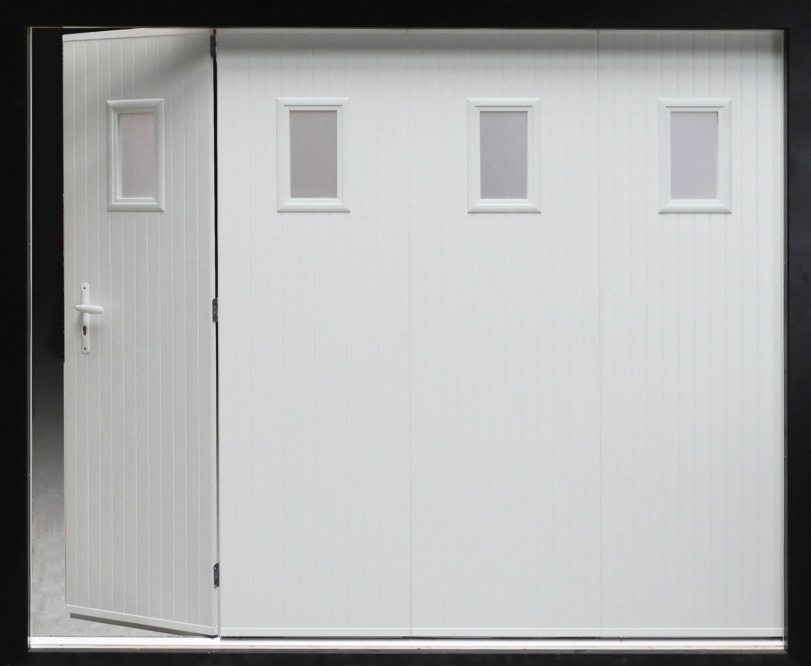 Porte De Garage Coulissante Manuelle Primo H 200 X L 240 Cm Avec Hublot Leroy Merlin