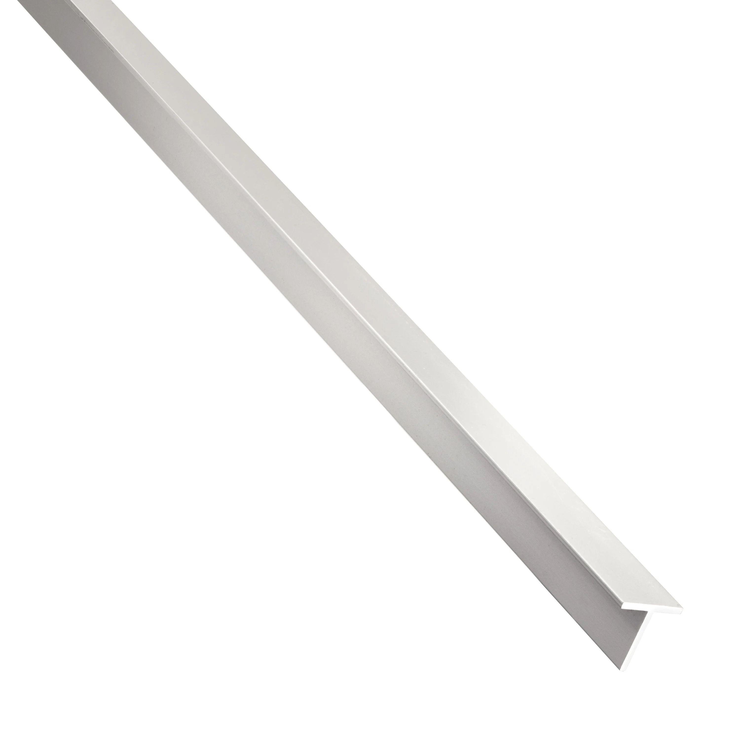 T Carre Aluminium Brut Argent L 1 M X L 2 Cm X H 1 95 Cm Leroy Merlin