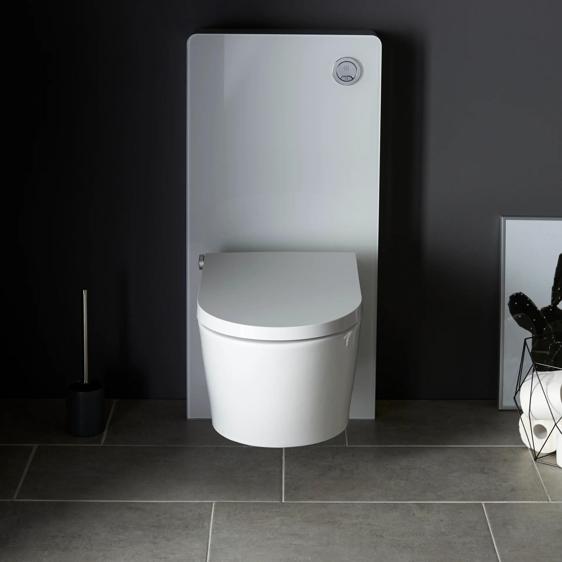 bati support pour wc suspendu en aluminium ruiz blanc