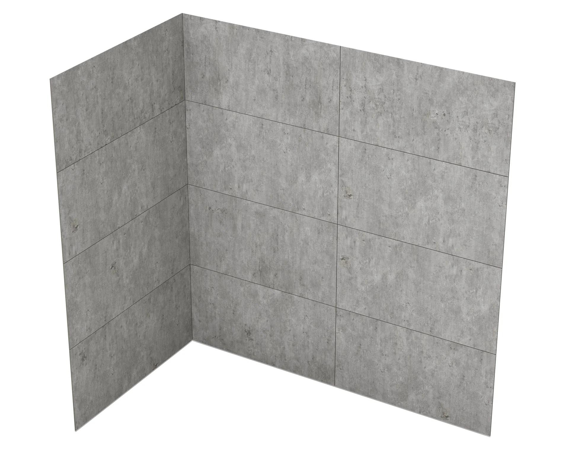 panneau mural h 90 x l 140 cm gres beton pour receveur 140x90 basins