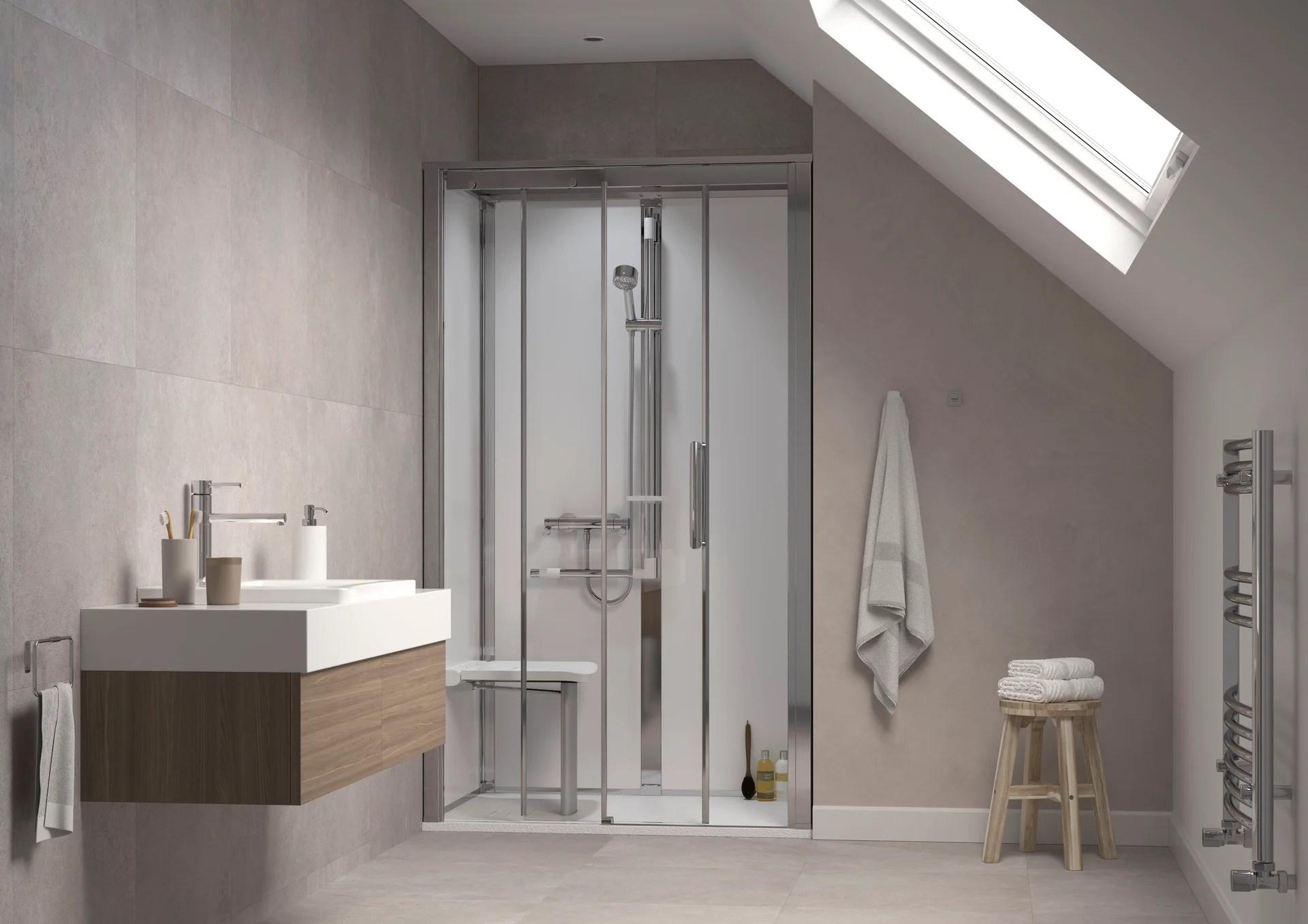 cabine de douche l 90 x l 120 cm blanc onyx pour niche porte pivotante gauche