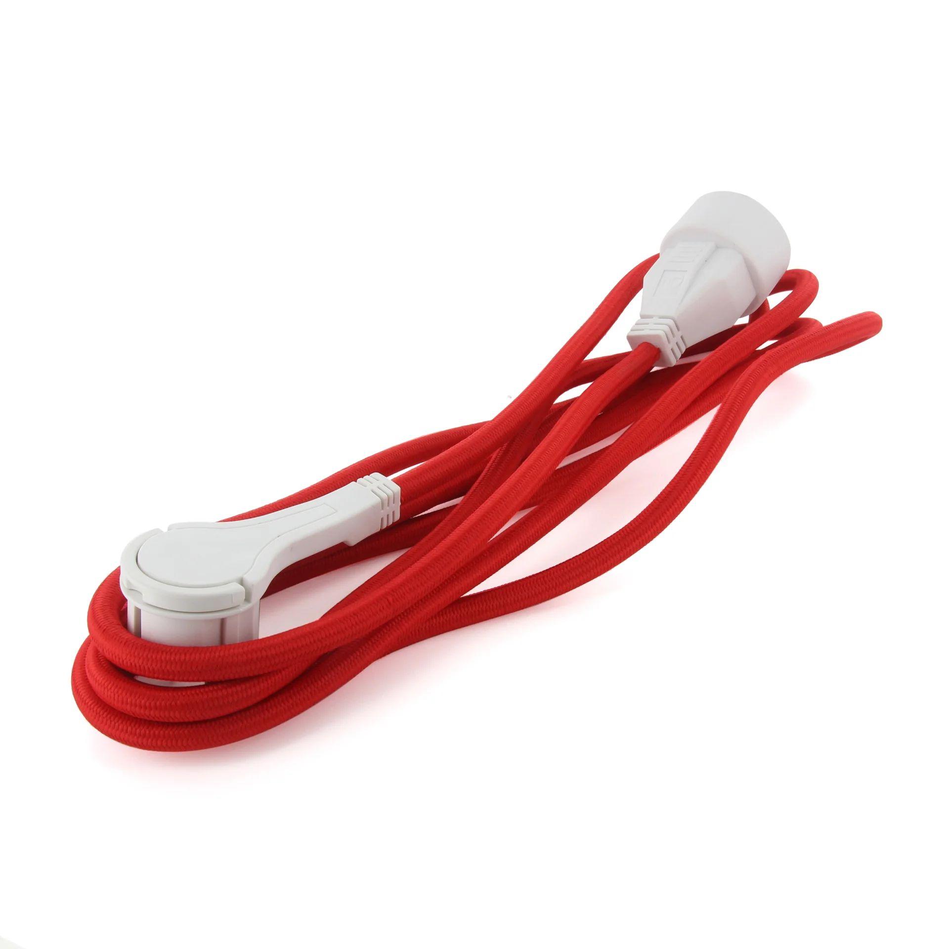 Rallonge Textile Electrique Menager Avec Terre L 3 M Ho5vvf 3g1 5 Rouge Leroy Merlin
