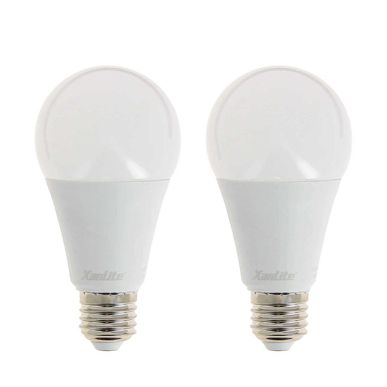 2 Ampoules Led Standard E27 1521 Lm 100 W Blanc Neutre Xanlite Leroy Merlin
