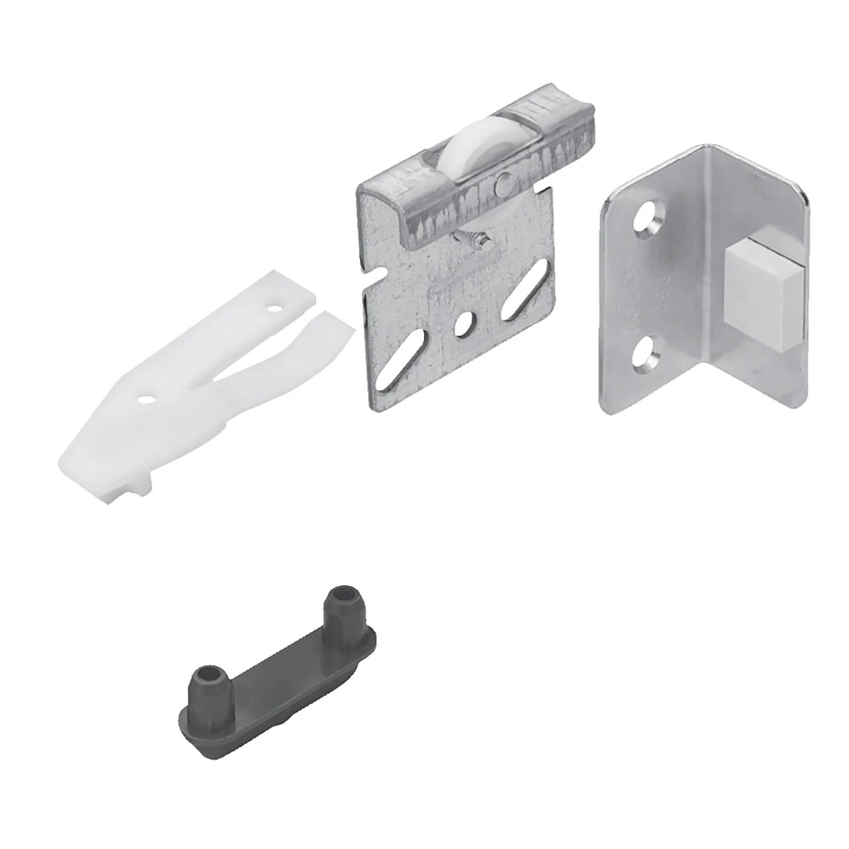kit de montage acier et plastique pour portes coulissantes hettich