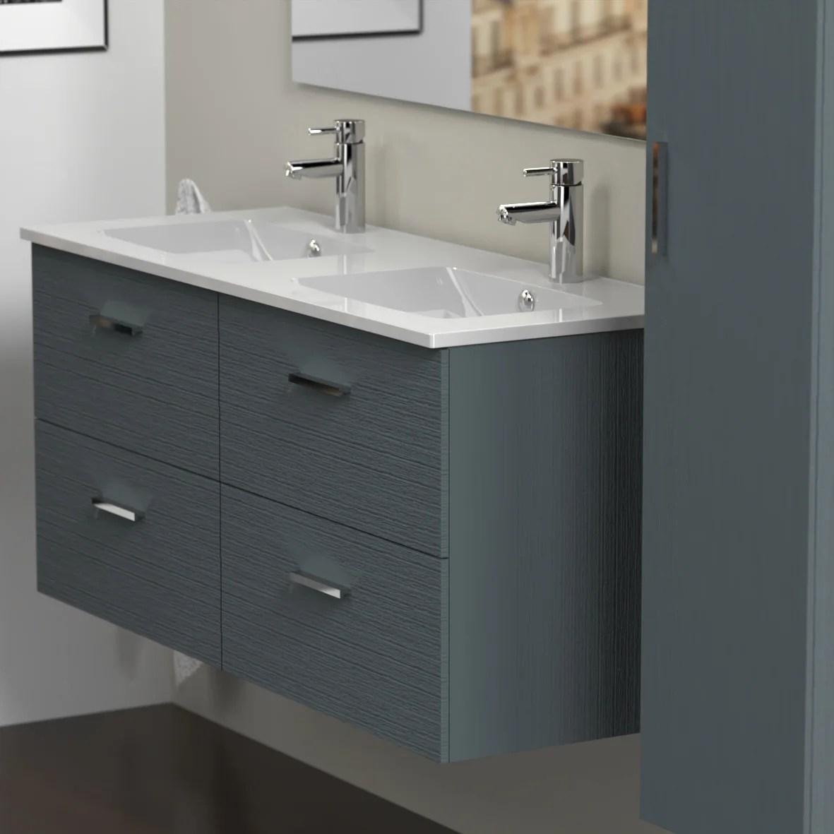 meuble de salle de bains double vasque