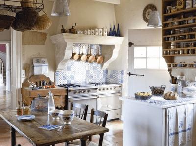 Las Mesas En Las Cocinas Rusticas Paperblog