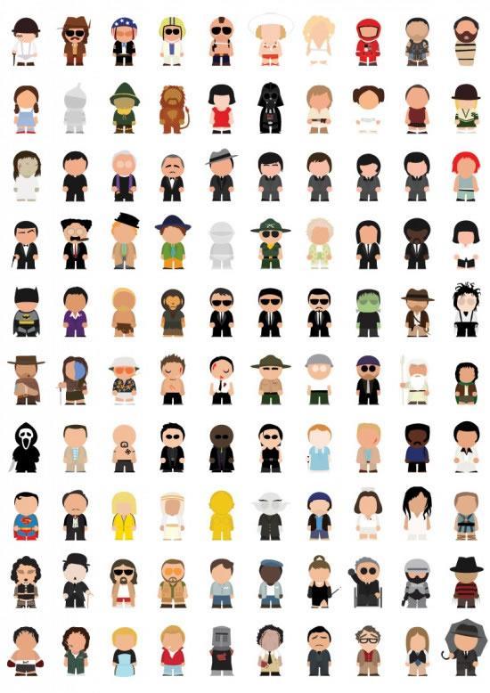 100 Conos De Personajes Famosos De Pelculas Paperblog