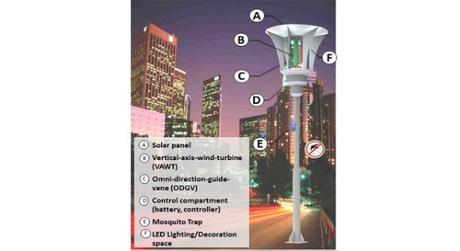 Farolas de energía eficiente que también son trampas para mosquitos