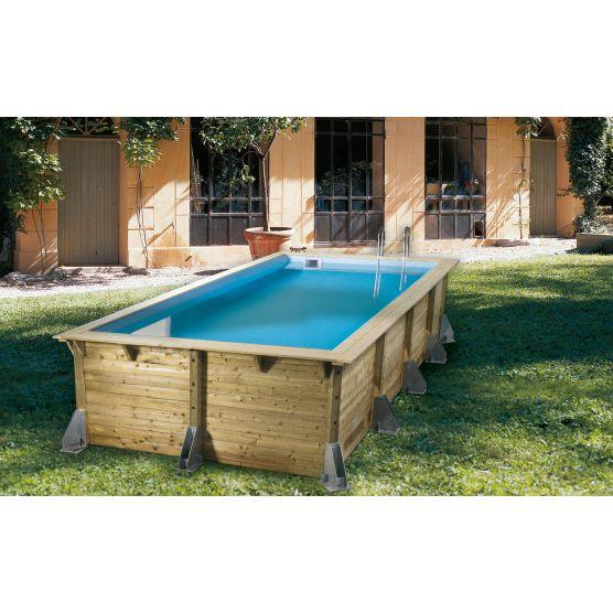 piscine bois rectangulaire ubbink azura