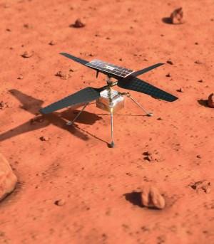 Premier vol d'hélico sur Mars
