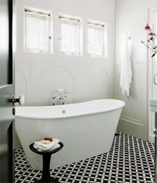 patterned tile bathroom floors on houzz