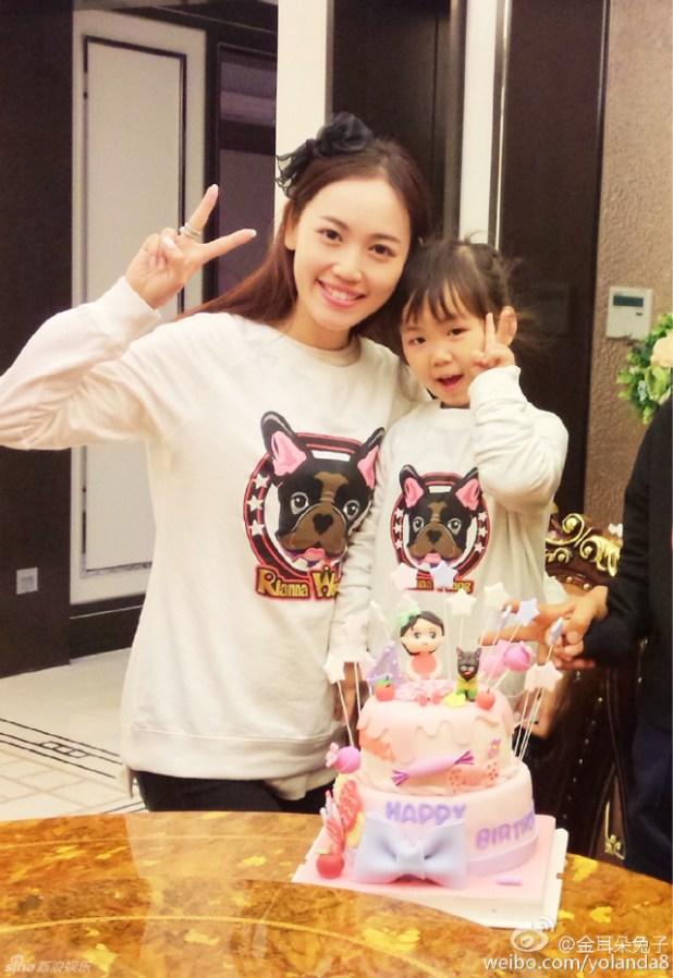 王寶強女兒娜娜4歲生日
