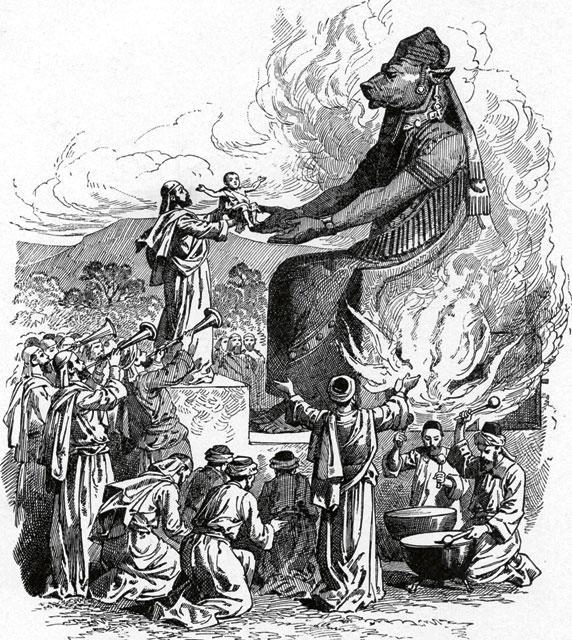 Принесение младенца в жертву Ваалу