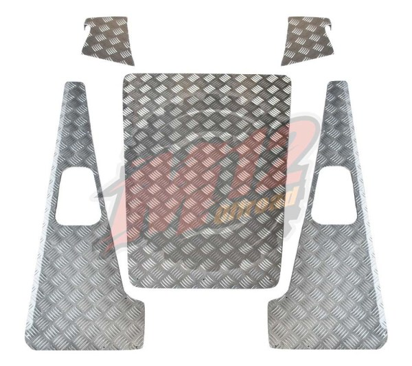 Defender 90 Set B - 2mm Chequer Plate - Natural