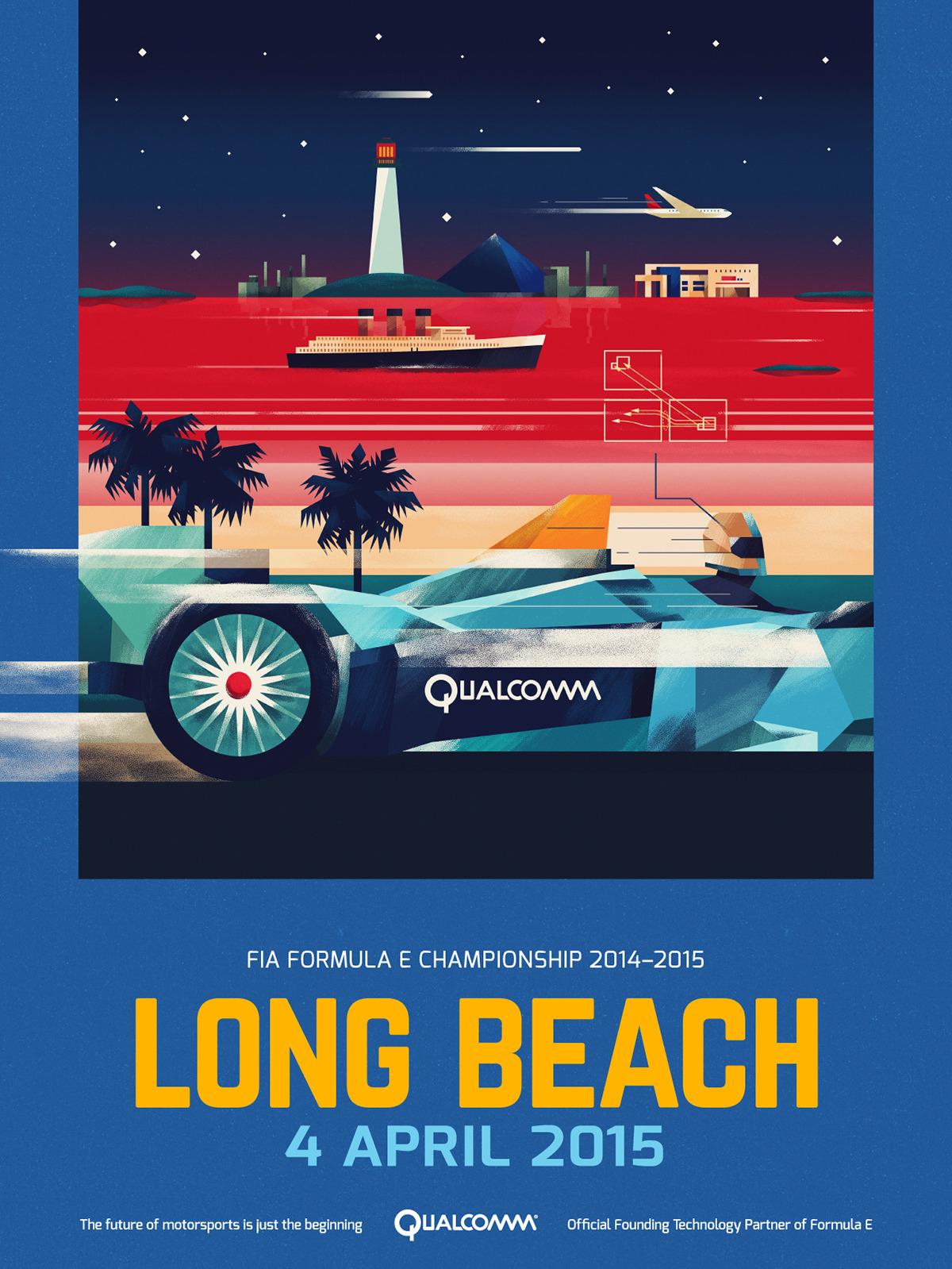 Long Beach Formula E Championship Poster by Dan Matutina