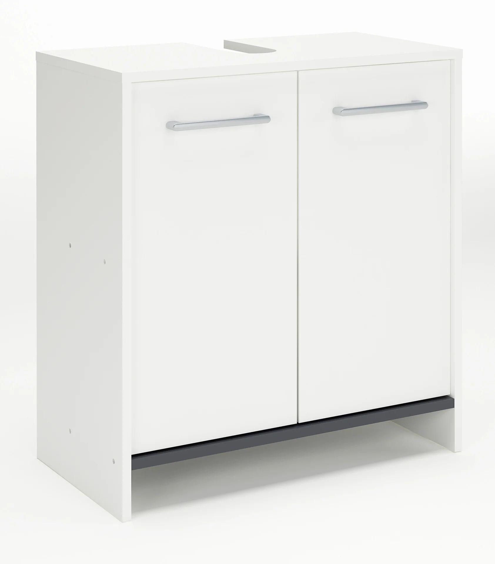 meuble sous lavabo l 63 x h 67 x p 33 cm nerea
