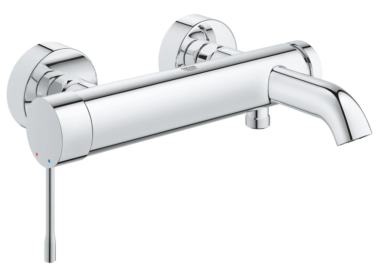 mitigeur mecanique de baignoire chrome brillant grohe eurosmart
